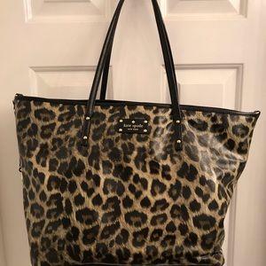 Kate spade leopard print diaper bag